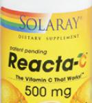 Reacta-C Solaray, vitamina C de acción rápida y duradera