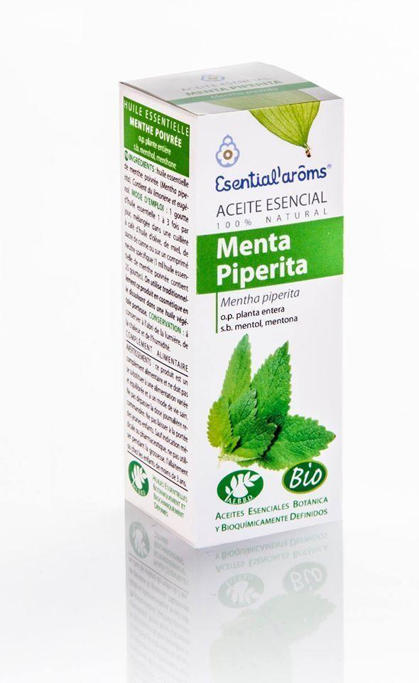 Aceite esencial menta piperita (Mentha piperita) Esential'arôms de cultivo biológico