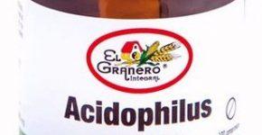 Acidophilus complex El Granero Integral mezcla equilibrada de lactobacilos frente diarreas, flatulencias y estreñimiento.