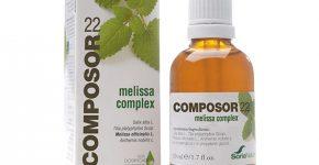 Composor 22 melissa complex de Soria Natural contribuye a disminuir las molestias de las migrañas y dolores de cabeza.