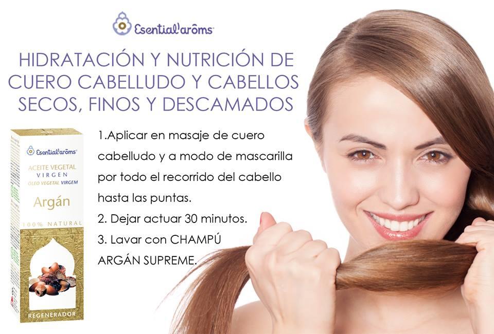 Aceite argán y el cabello
