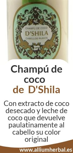 Comprar Champú de coco de D'Shila en alliumherbal.biz
