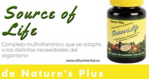 Source of life 60 comprimidos de Natures Plus