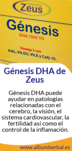 Génesis DHA de Zeus alta concentración en DHA y antioxidantes