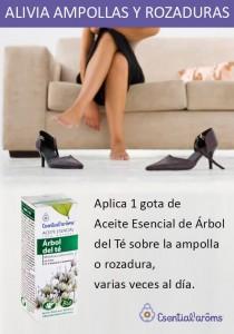Aceite Esencial de Árbol del té de Esential Aroms y las rozaduras de piés