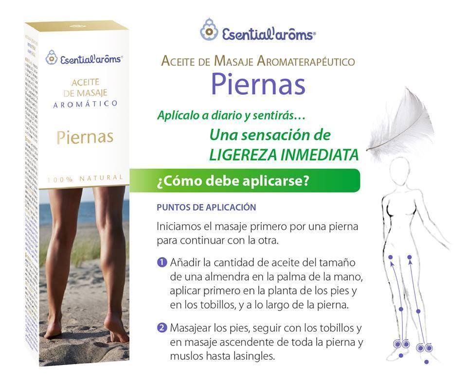 Aceite de masaje aromático para piernas de Esential Aroms