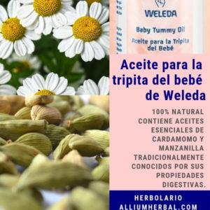 Aceite tripita sana bebe de Weleda