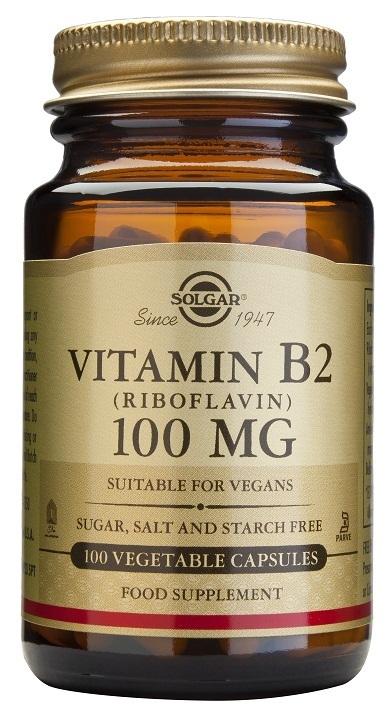 Vitamina B2 Solgar como riboflavina