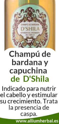 Champú bardana D'Shila, activa el crecimiento del cabello
