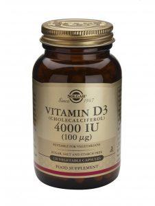 Vitamina D3 colecalciferol Solgar