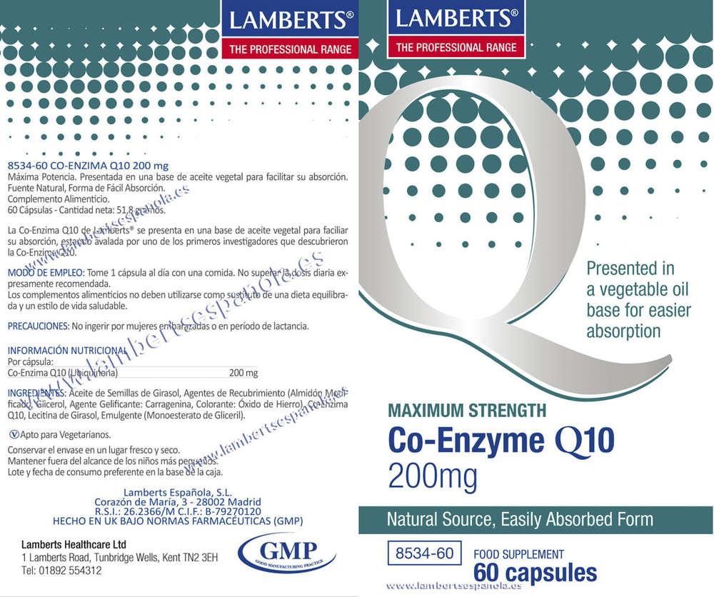Coenzima Q10 200 mg de Lamberts