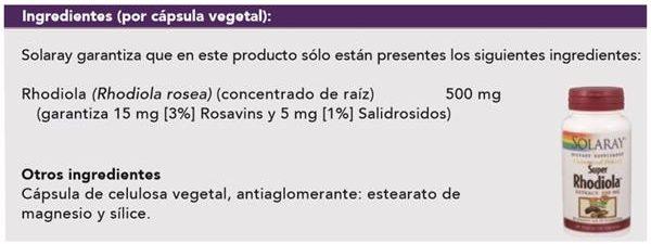 Super Rhodiola de Solaray, antídoto para el estrés