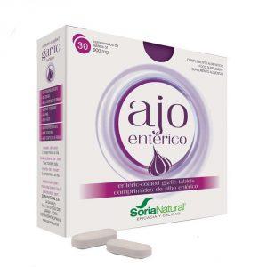 Ajo Entérico Soria Natural aporta 7 veces más alicina que un ajo