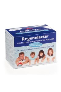 Regenelactis Dietéticos Intersa restablece la flora bacteriana intestinal ayudando a la digestión y estimulando el sistema defensivo del ser humano.