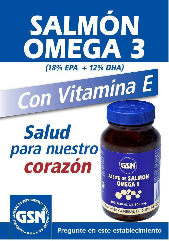 El aceite de salmón, omega 3 y vitamina E de GSN