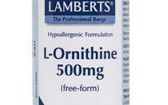 L-Ornitina Lamberts 500 mg 60 cápsulas