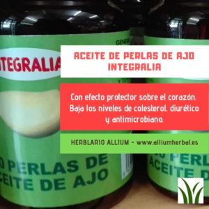 Aceite de ajo de Integralia, baja los niveles de colesterol