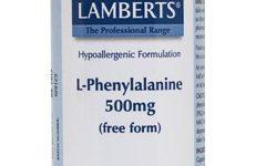 L-Fenilalanina Lamberts 60 cápsulas, apoya los procesos de aprendizaje y memoria