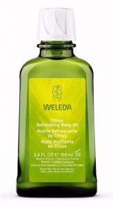 Aceite corporal citrus Weleda refresca y estimula tu piel