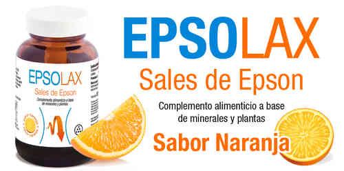 Epsolax Sabor Naranja es un complemento alimenticio a base de sulfato de Magnesio