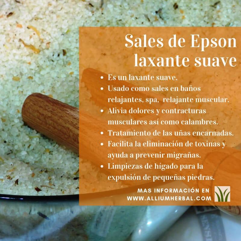 Propiedades de las sales de Epson