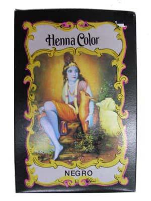 Henna Radhe Shyam color negro en polvo, colorante natural de tu cabello