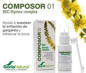 Composor 01 bucofaringeo Soria Natural ayuda a suavizar la irritación de la garganta