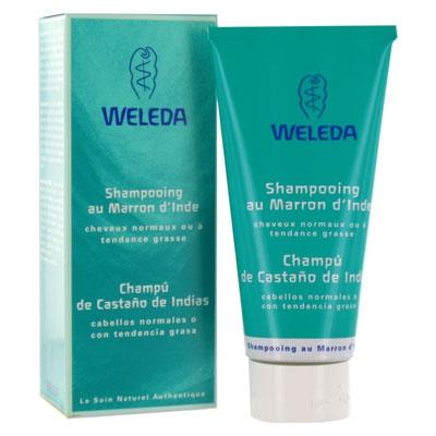 Champú de castaño de indias de Weleda limpia cabellos normales o grasos