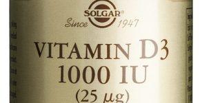 Vitamina D3 de Solgar obtenida del aceite de hígado de pescado