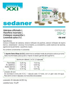 Sedaner Valerian Complex Soria Naturalrelajante y tranquilizante.