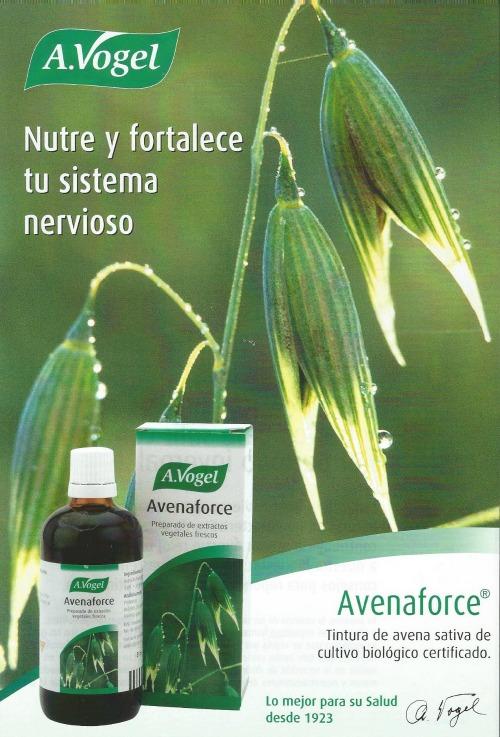 Avenaforce de Alfred Vogel es una ayuda efectiva en estados de temor, preocupación, falta de apetito, agotamiento nervioso, exceso de trabajo mental, falta de concentración.