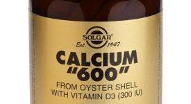 Calcio 600 con vitamina D 60 comprimidos de Solgar