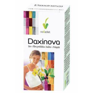 Daxinova de Novadiet. Laxante a base de hojas de sen, fibra prebiótica: Inulina y frángula corteza.