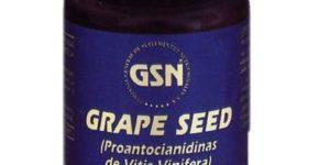 Semilla de uva de GSN en envase de 80 cápsulas, antioxidante y protector capilar