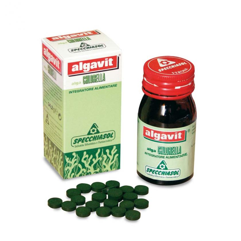 Algavit Chlorella de Specchiasol depura y desintoxica tu organismo de metales pesados como el cadmio, el uranio, el mercurio o el plomo, pesticidas, etc.