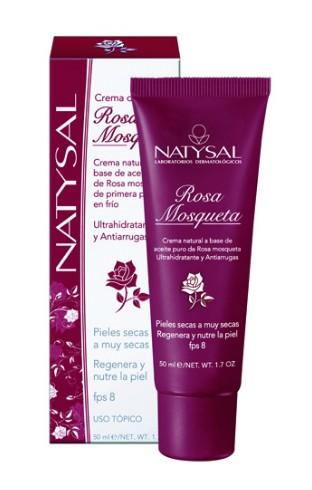 Crema de rosa mosqueta natural en tubo de Natysal