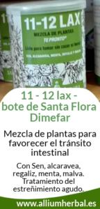 11 - 12 lax de Santa Flora, regulador intestinal con propiedades laxantes