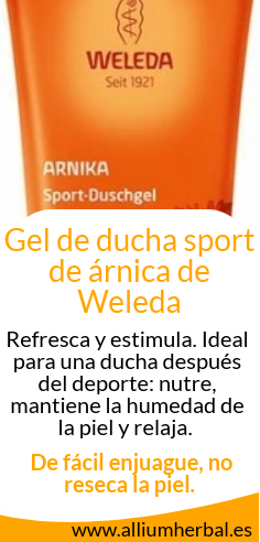 Gel de ducha sport de árnica 200 ml de Weleda