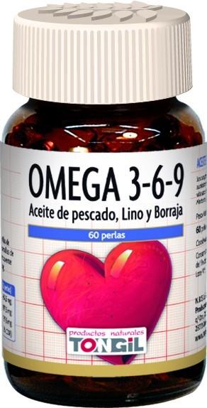 Omega 39 60 perlas de Tongil. Aceite de pescado con lino y borraja