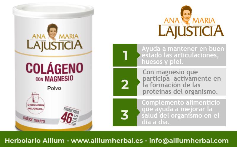 Colágeno con magnesio en polvo 350 gramos de Ana Maria Lajusticia