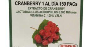 Cranberry 1 al día de Integralia, trata las infecciones de las vías urinarias
