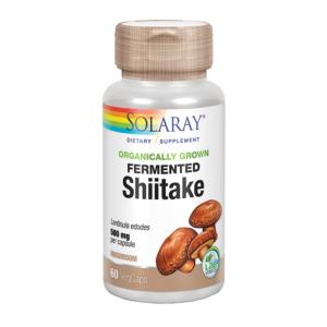 Shiitake 500 mg 60 cápsulas vegetales de Solaray