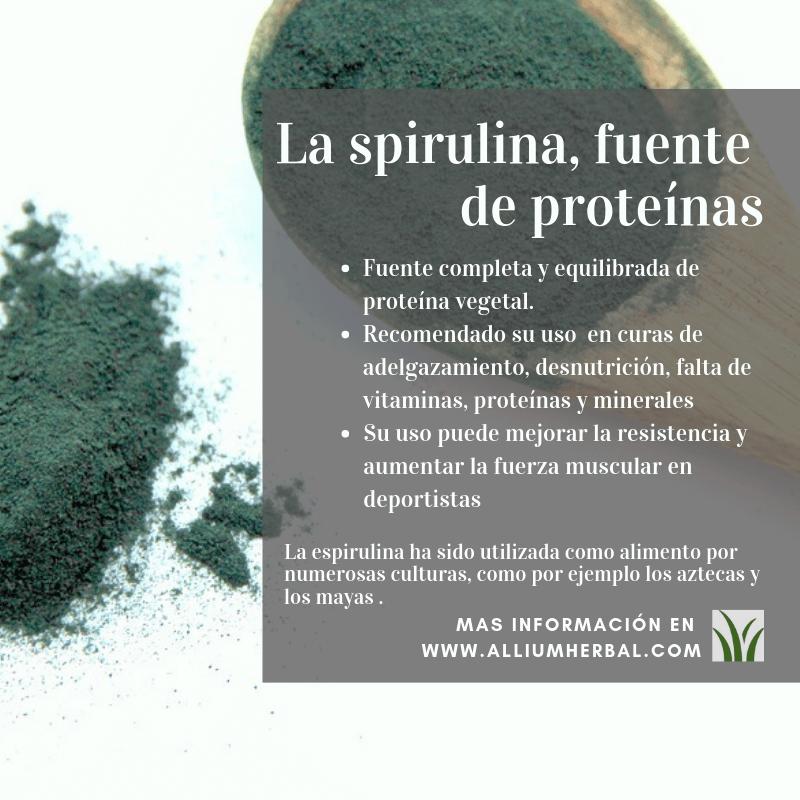 Propiedades del Alga spirulina