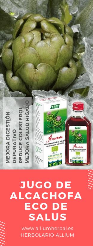 Jugo de alcachofa eco de Salus desintoxicante del hígado.