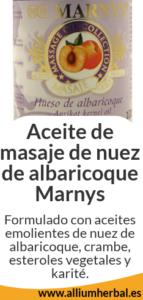 Aceite de masaje de nuez de albaricoque 100 ml / Marnys