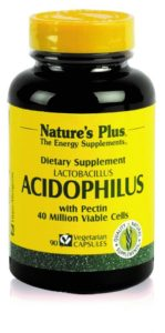 Acidophilus de Nature's Plus mejora la flora intestinal