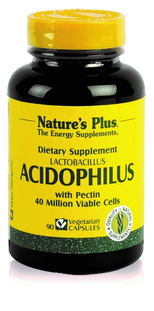 Acidophilus de Nature's Plus mejora la flora intestinal