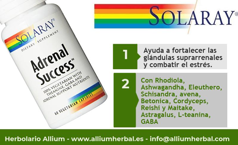 Adrenal success 60 cápsulas de Solaray