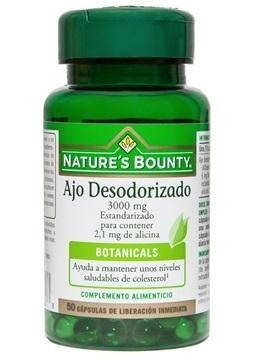 Ajo Desodorizado 50 capsulas 3000 mg estandarizado de Nature's Bounty