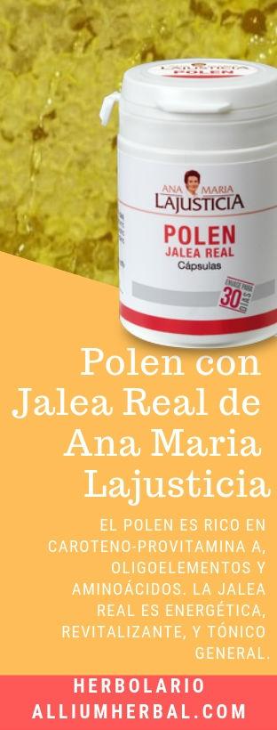 Polen con jalea real 60 cápsulas de Ana Maria Lajusticia